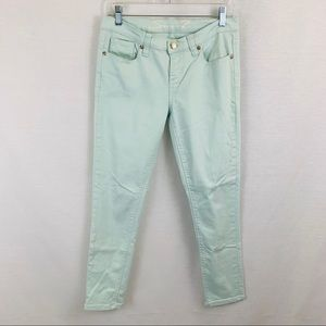 7seven light green skinny easy fit jean, size 2